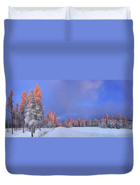 Other Side Of A Winter Sunset Duvet Cover