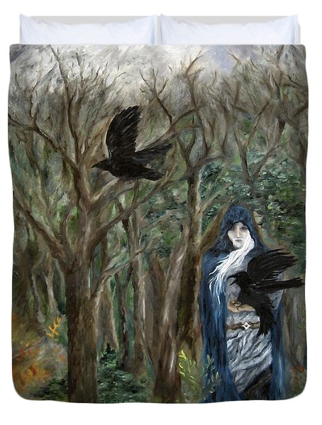 The Raven God Duvet Cover