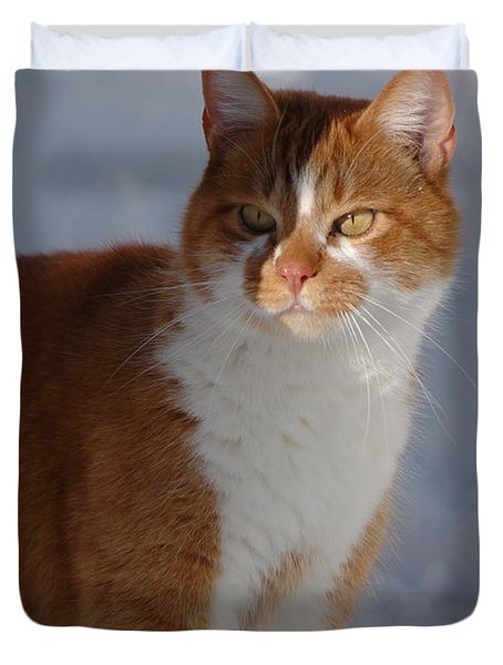 Duvet Cover featuring the photograph Otis by Christiane Hellner-OBrien