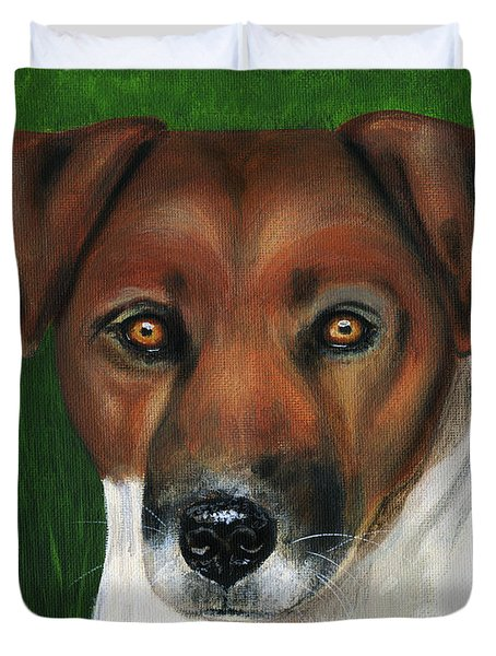 Otis Jack Russell Terrier Duvet Cover by Michelle Wrighton