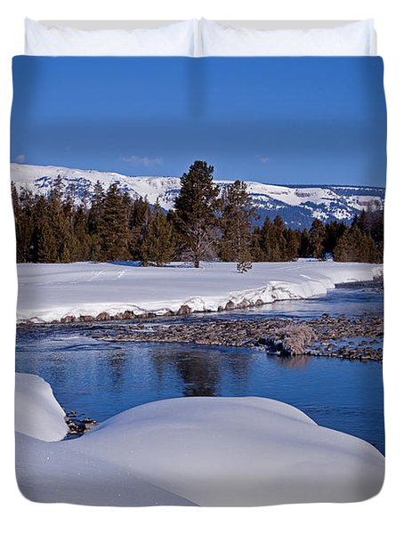 Duvet Cover featuring the photograph Otter Creek by Jack Bell