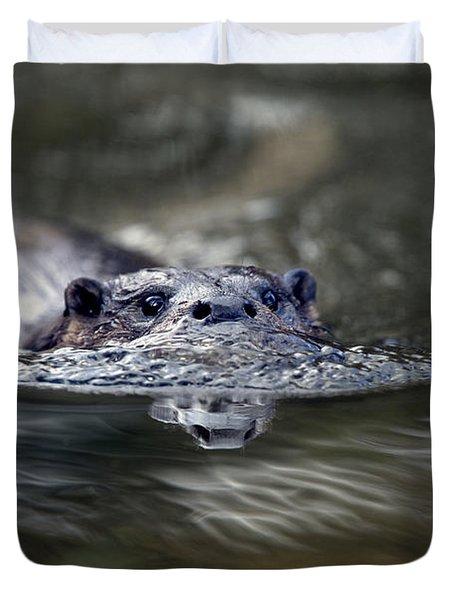 Otter Swimming Duvet Cover