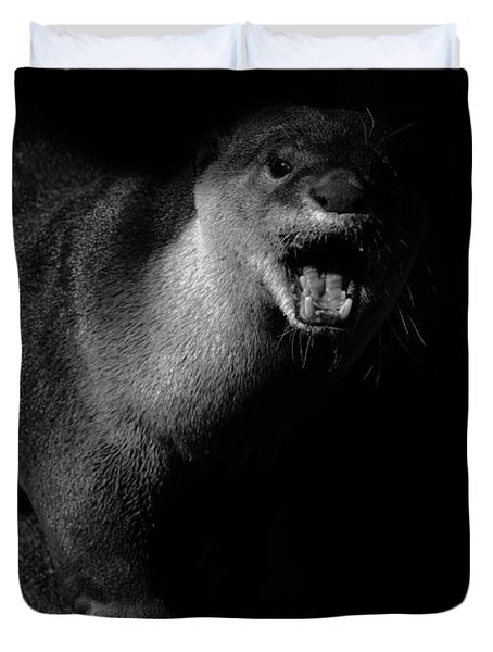 Otter Wars Duvet Cover by Martin Newman