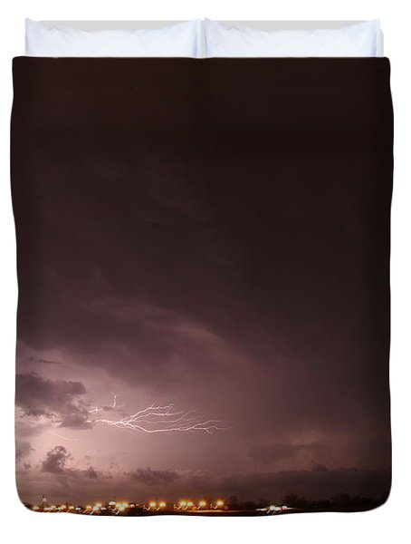 Our 1st Severe Thunderstorms In South Central Nebraska Duvet Cover