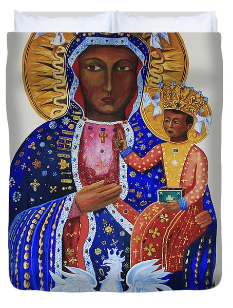 Our Lady Of Czestochowa Duvet Cover by Barbara McMahon
