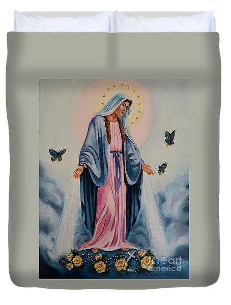 Our Lady Of Grace I Duvet Cover