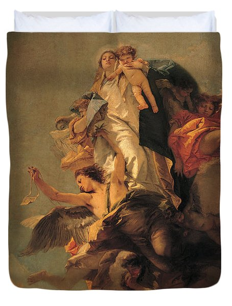 Our Lady Of Mount Carmel  Duvet Cover by Tiepolo Giambattista