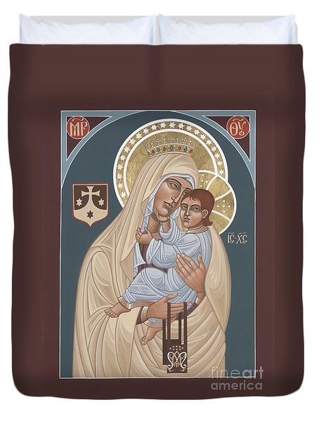 Duvet Cover featuring the painting Our Lady Of Mt. Carmel 255 by William Hart McNichols