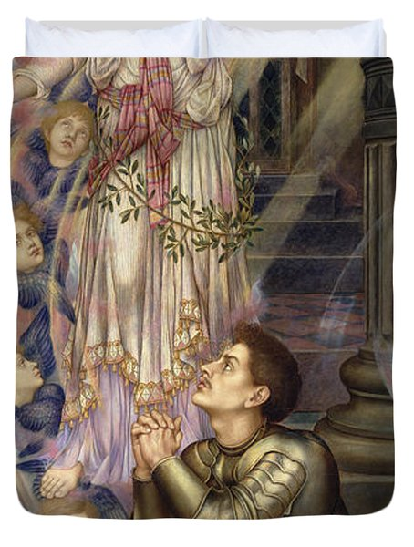 Our Lady Of Peace Duvet Cover by Evelyn De Morgan