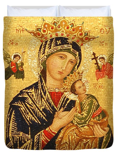 Our Lady Of Perpetual Help  Duvet Cover