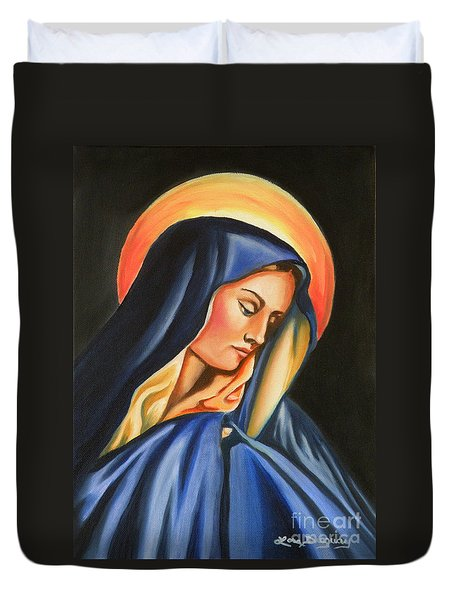 Our Lady Of Sorrows Duvet Cover