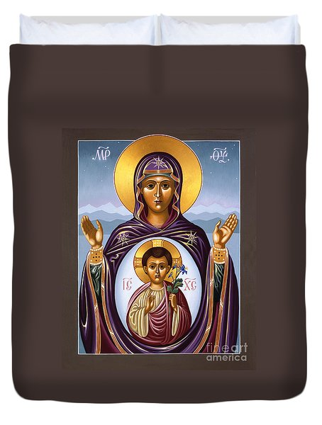 Our Lady Of The New Advent Gate Of Heaven 003 Duvet Cover