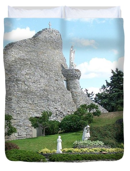 Our Lady Of The Woods Shrine Duvet Cover