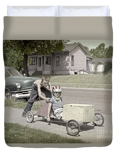 Our Racing Cart Duvet Cover