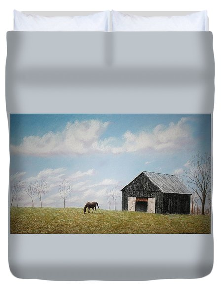 Out For Breakfast Duvet Cover by Stacy C Bottoms