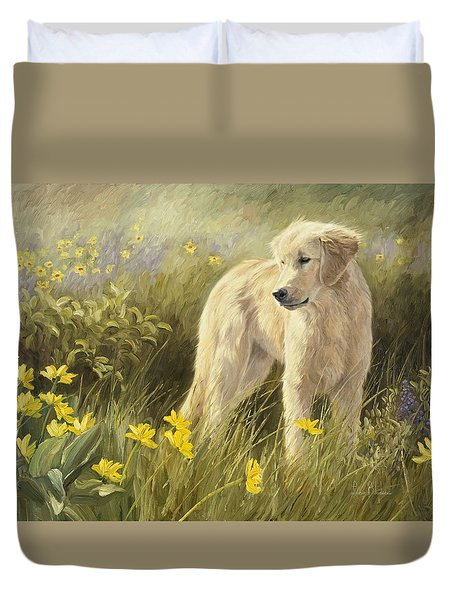Out In The Field Duvet Cover