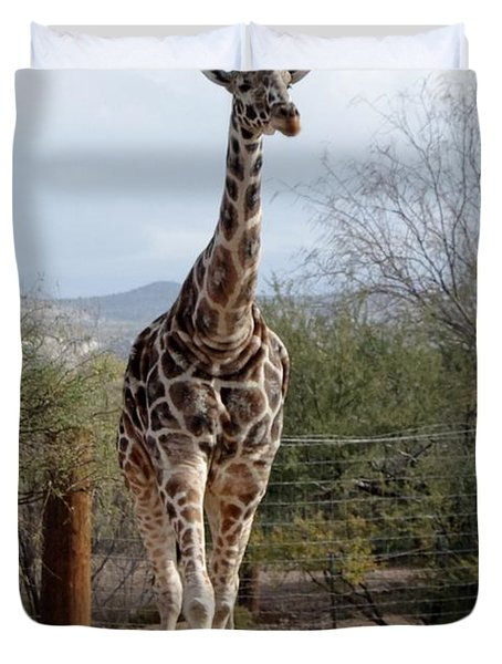 Out Of Africa  Giraffe 1 Duvet Cover