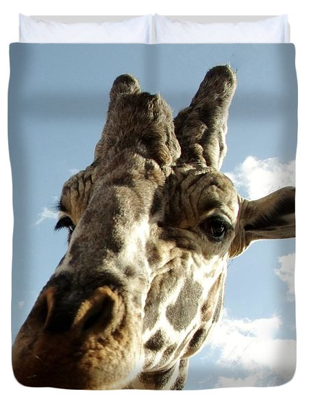 Out Of Africa  Reticulated Giraffe Duvet Cover
