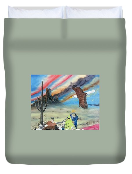 Out Of Business II Duvet Cover by Jody Poehl