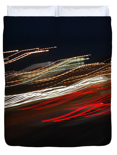 Duvet Cover featuring the photograph Out Of Control by Maggy Marsh
