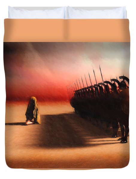 Out Of Egypt Duvet Cover by Bob Orsillo