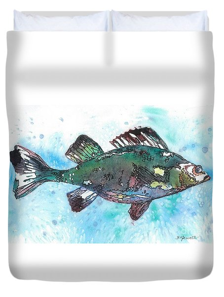 Duvet Cover featuring the painting Out Of School by Barbara Jewell