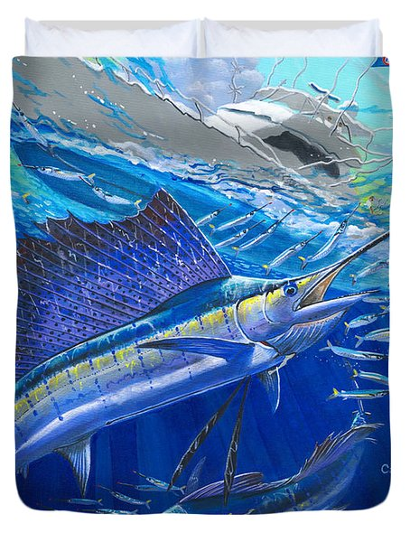 Out Of Sight Duvet Cover by Carey Chen