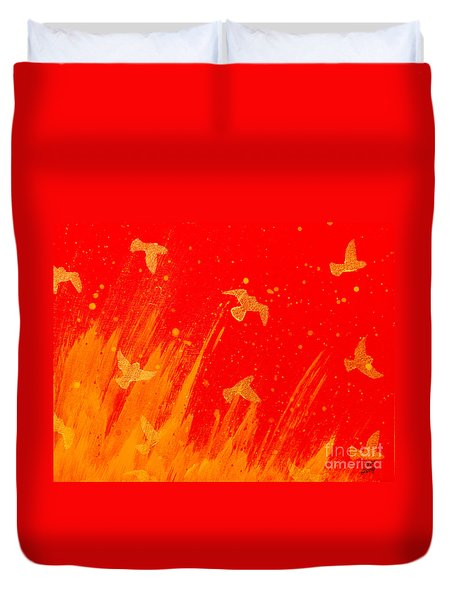 Out Of The Fire Duvet Cover by Stefanie Forck