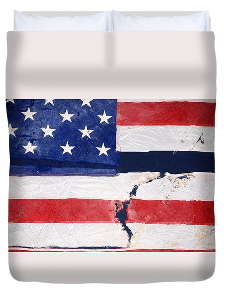 Duvet Cover featuring the photograph Out Of The Rubble  September 11 2001 by John Schneider