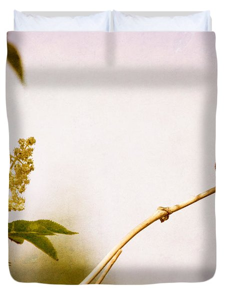 Duvet Cover featuring the photograph Out On A Limb by Peggy Collins