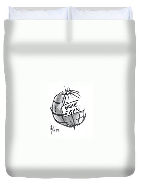Out To Lunch Duvet Cover by Kip DeVore