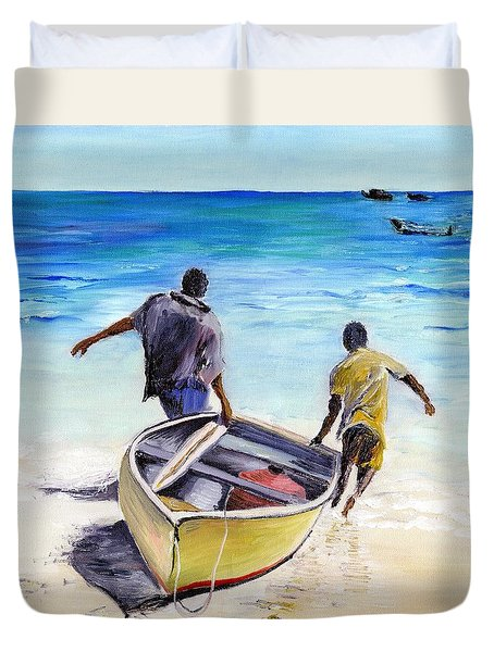 Out To Sea Duvet Cover