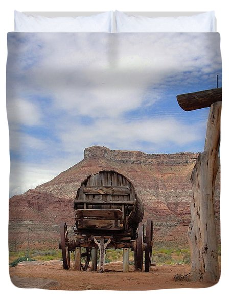 Out West Duvet Cover by Natalie Ortiz