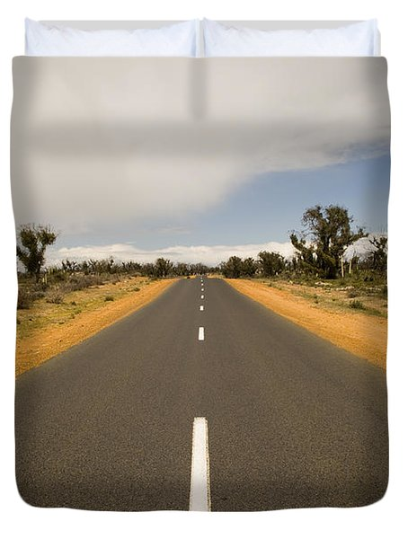 Outback Road Duvet Cover by Tim Hester
