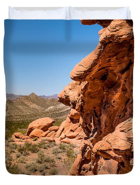Duvet Cover featuring the photograph Outcrop - Valley Of Fire State Park by  Onyonet  Photo Studios
