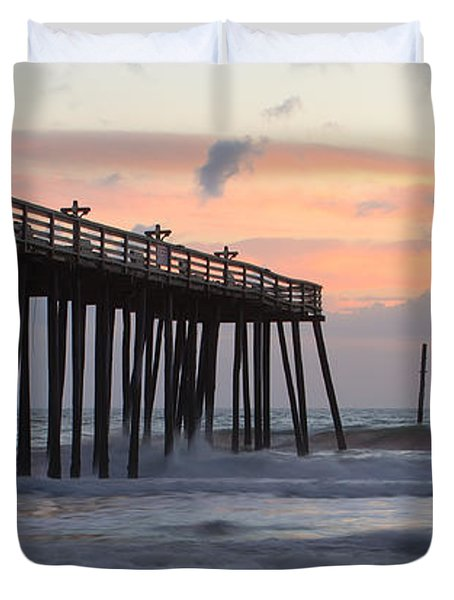 Outer Banks Sunrise Duvet Cover by Adam Romanowicz