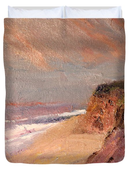 Outer Cape Sunset Duvet Cover