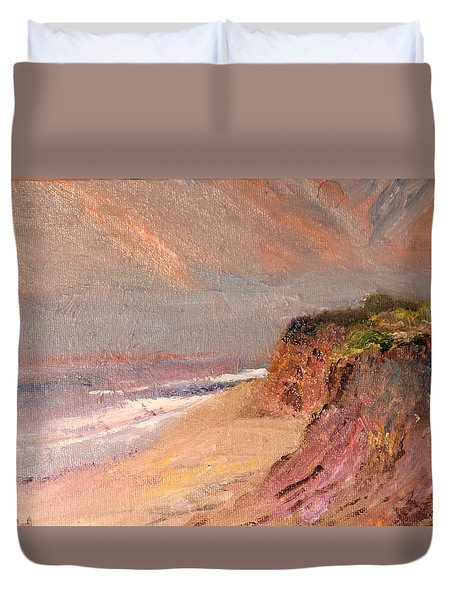 Outer Cape Sunset Duvet Cover