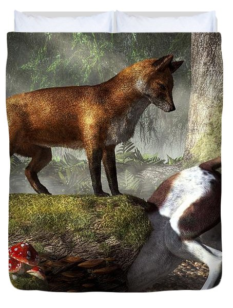 Outfoxed Duvet Cover