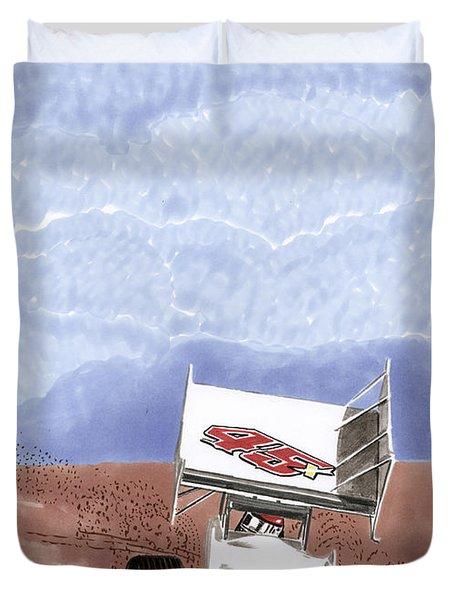 Outlaw Race Car Duvet Cover