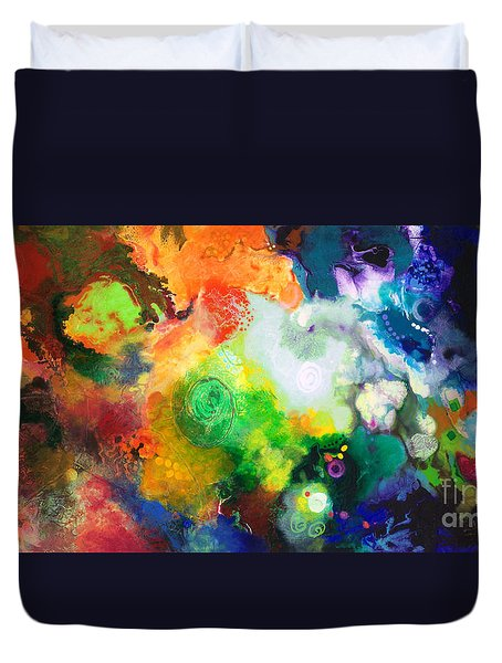 Outward Bound Duvet Cover by Sally Trace