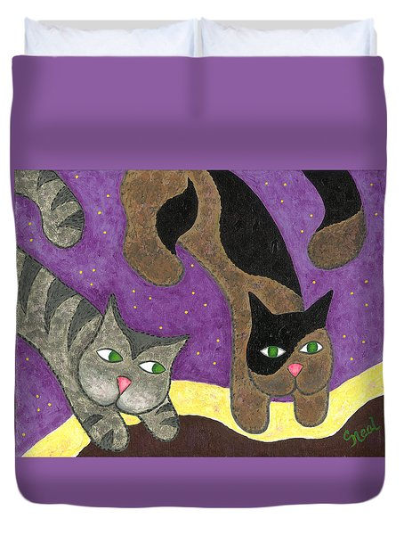 Over Cover Cats Duvet Cover