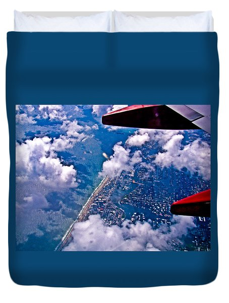 Over Daytona Beach Duvet Cover