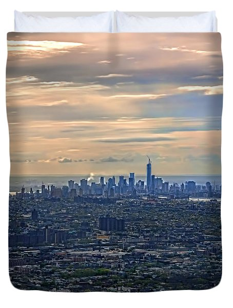 Over East New York Duvet Cover