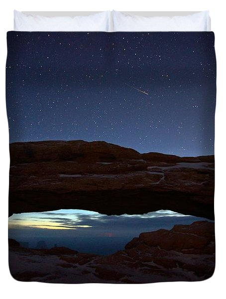 Duvet Cover featuring the photograph Over The Arch by David Andersen