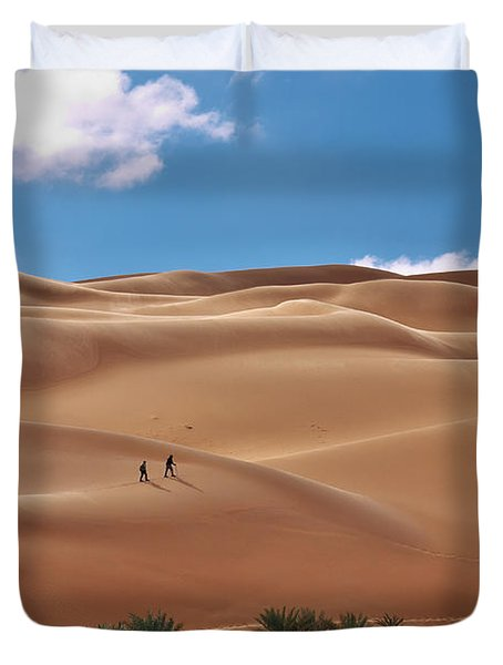 Over The Dunes Duvet Cover