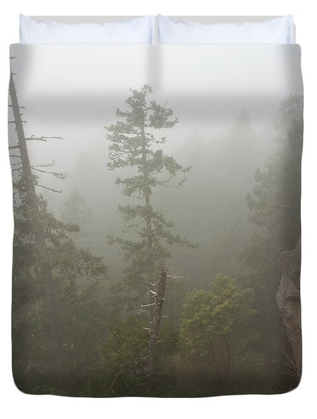 Over The Edge Duvet Cover by Randy Hall