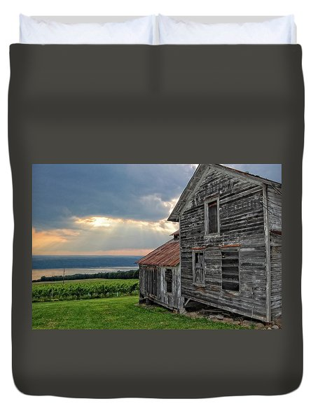 Over The Field Duvet Cover
