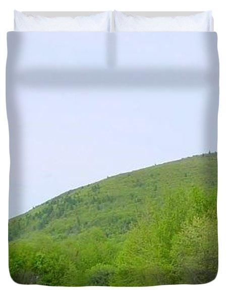 Over The Hill Duvet Cover