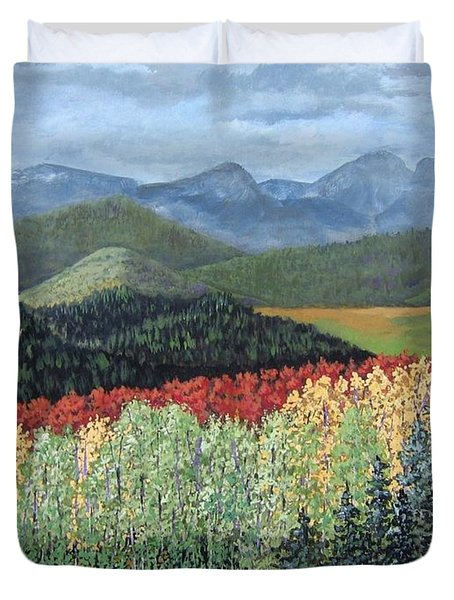 Over The Hills And Through The Woods Duvet Cover by Suzanne Theis